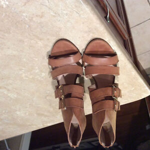 Size 9 natural leather Aldo shoes