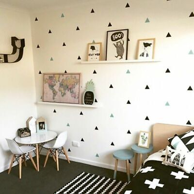Baby Boy Room Little Triangles Wall Sticker For Kids Room Decorative Stickers