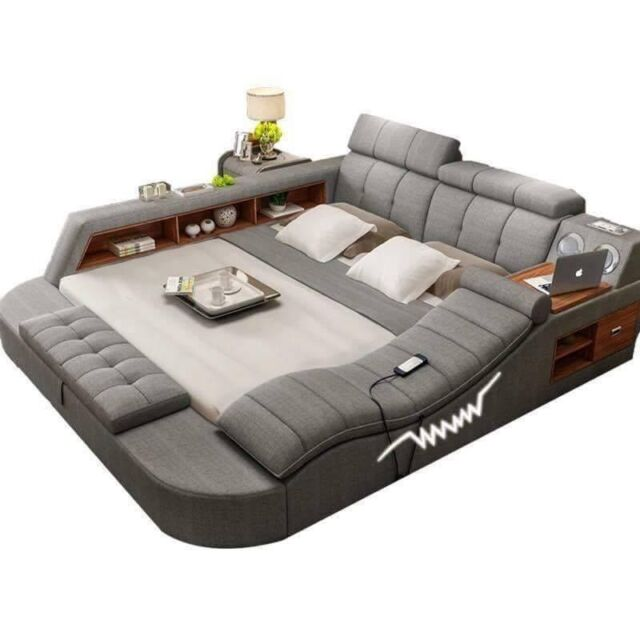 All In One Double Bed With Massage Speakers Storage Safe Perfect