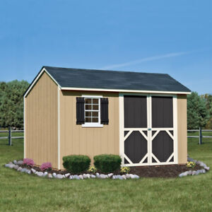 Sheds:  2 Wooden 8ftx12ft company shrink wrapped kits