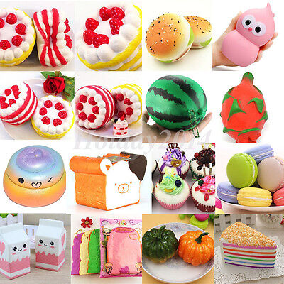 Jumbo Squishy Fruit Bread Toast Slow Rising Bread Cellphone Strap Charms Mix