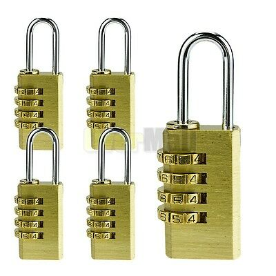 5X Security 4 Digit Combination Travel Suitcase Luggage Bag Code Lock Padlock