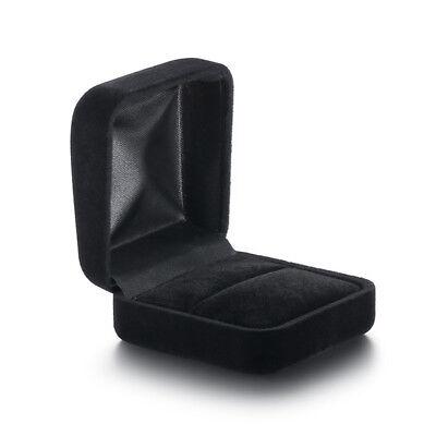 (Velvet Ring Black Box Engagement Wedding Ring Valentine's Day Jewelry Elegant)
