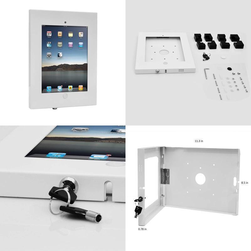 Pyle Security Anti-Theft Ipad Wall Mount, Lock  Key Tablet D