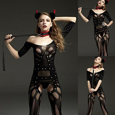 Halloween Sexy Bundled Seduction Jumpsuits Sleepwear Bandage Lingerie Cosplay