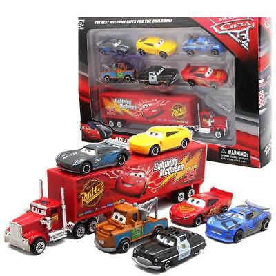 Hot Disney Pixar Car 95# Mack McQueen Racer's Sheriff Tow Mater Kid Toy Gift+Box (Tow Mater)