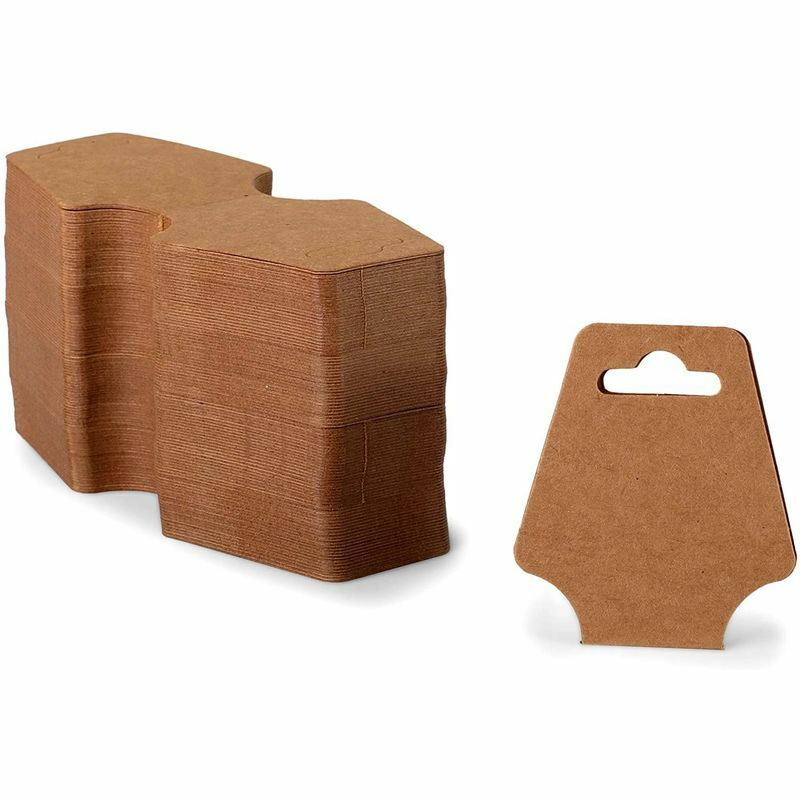 Kraft Paper Necklace Display Cards (2 x 4.7 in, 600 Pack)