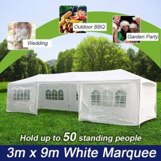 Outdoor Marquee Party Tent 3m x 9m White Cooper for NSW area
