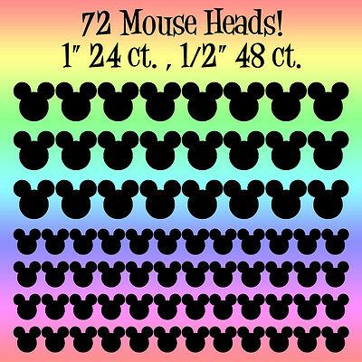 Lot of 72 Mickey Mouse Head Party Supply Stickers  Premium Bulk Vinyl Decals