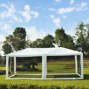 10 x 20ft Canopy Gazebo Party Tent sun shelter Easy Set w/ Mesh