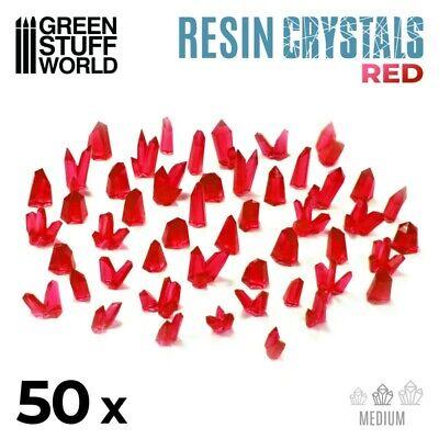 Cristales de Resina ROJO - Medianos - Texturas Escenografia Warhammer 40k