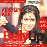 Spicy Bollywood Dance Workshop in BellyUp, Oakville- Oct 23!