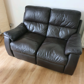 Sofa, 2 seater, leather, recliner FOR FREE