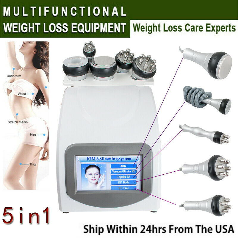 5in1 Ultrasonic Cavitation Radio Frequency Slim Machine Vacuum Body fat remover