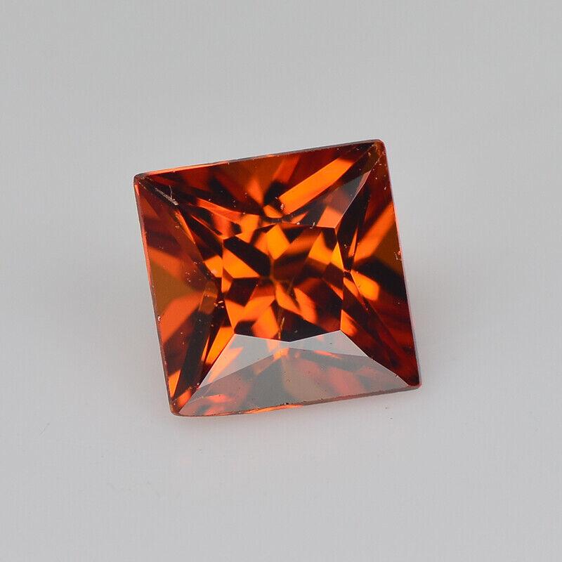 Natural Loose Gemstone | Orange Spessartite Garnet | 0.45 cts Princess