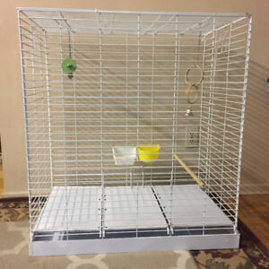PARROT Metal Cage  extra large size &complete accessories
