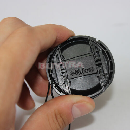 EF 40.5mm Center Pinch Snap on Front Cap For Sony Canon Lens Filters Plastic FL