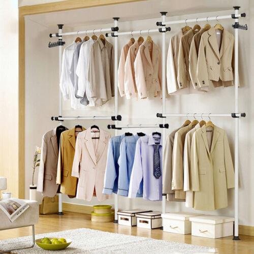 Kleiderstange Kleiderständer Garderobenständer Wäscheständer mit Teleskopstange