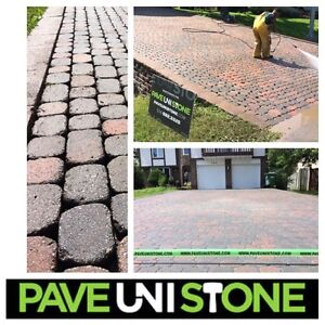 PAVER CLEANING - PAVER RE-RELEVELLING - PAVE_UNI STONE West Island Greater Montréal image 1