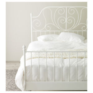 Ikea LEIRVIK Double Bed frame and base - NEW