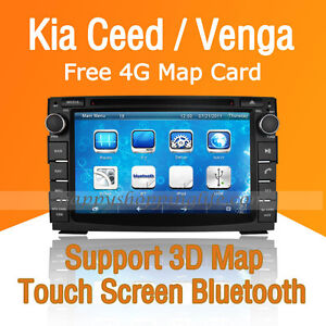Car Dash DVD Player GPS Navigation Radio Stereo BT IPOD for Kia Ceed Venga