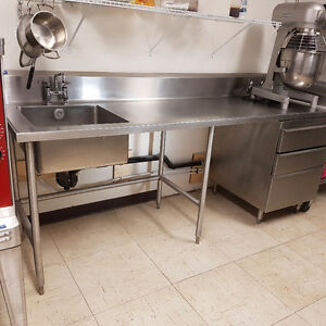 3 Heavy Duty Stainless steel prep tables