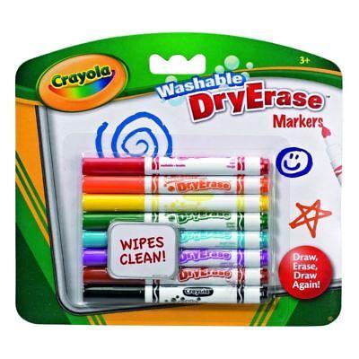 8 Crayola Washable Dry Erase DryErase washable Markers Felt Tip Pens - Crayola Washable Dry Erase Markers
