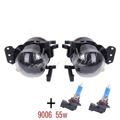 Pair Front Fog Lights Lamps Housing Clear For BMW E60 E61 E63 E46 X3 325i 525i for sale  Shipping to Canada