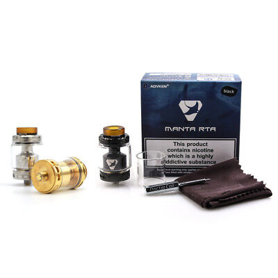 Advken Manta Rta 24Mm Top Refill W  Bubble And Standard Tank Ships Fast