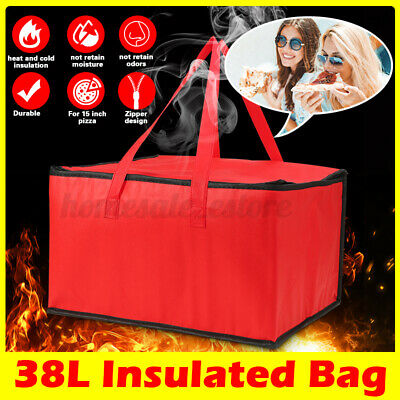16 16 9.5 Pizza Food Delivery Zipper Bag Insulated Thermal Storage Holder