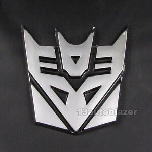 Auto-Car-3D-Transformer-Decepticon-Logo-Emblem-Badge-Sticker-Decal-Chrome