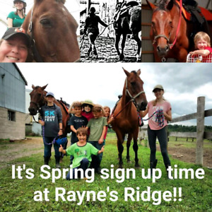 Riding or Farm Adventure Day Camp!