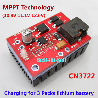 MPPT Solar Controller 3S 12.6V Lithium Battery Charging 18650 3A Charger Module