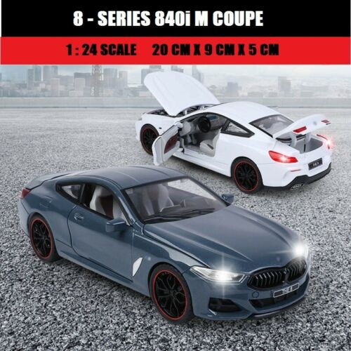 1:24 Diecast Car For BMW 8 SERIES 840i M COUPE Model (G15) 2018 Collection Toys