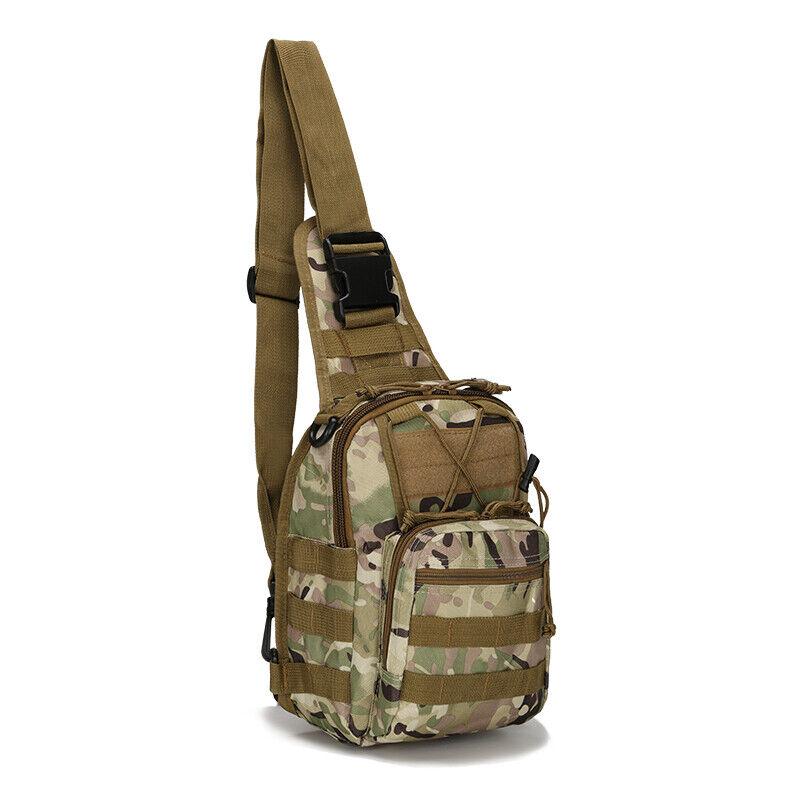 Men Backpack Molle Tactical Sling Chest Pack Shoulder Bag Outdoor Hiking Travel 5