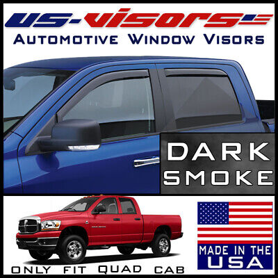 US-Visors Window Vent Visors In-Channel fit 2003-2009 Dodge Ram 2500 Quad Cab