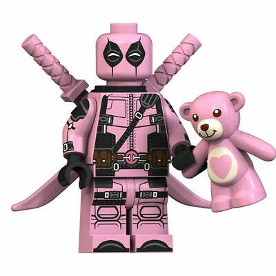Pink Deadpool Marvel Superhero Mini Action Figure Toy Spider-man Lego Moc