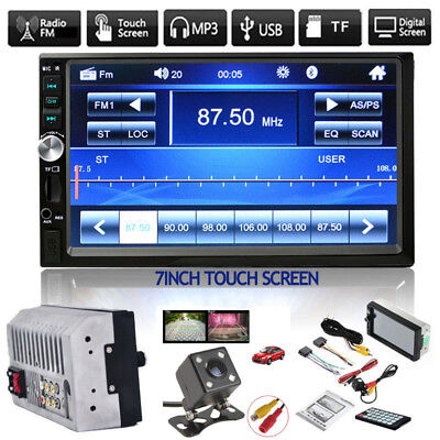 7  Stereo Bluetooth Mp5 Player Car Radio Hd Touch Screen Fm Aux Usb Tf  Camera