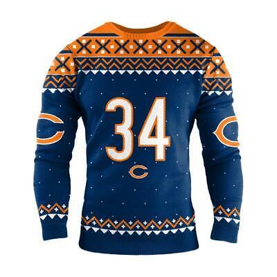 Medium CHICAGO BEARS NFL WALTER PAYTON RETIRED PLAYER Ugly Christmas SWEATER #34 ()