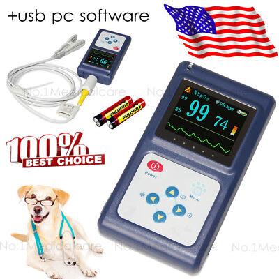 Fda Vet Veterinary Spo2 Pulse Oximeter Blood Oxygen Heart Rate Monitor Alarmsw