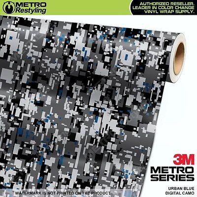 DIGITAL URBAN BLUE Camouflage Vinyl Car Wrap Camo Film Decal Sheet Roll Adhesive Urban Blue Camo