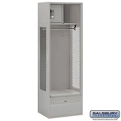 Open Access Standard Metal Locker 6 High 18 Deep Gray Unassembled Locker New