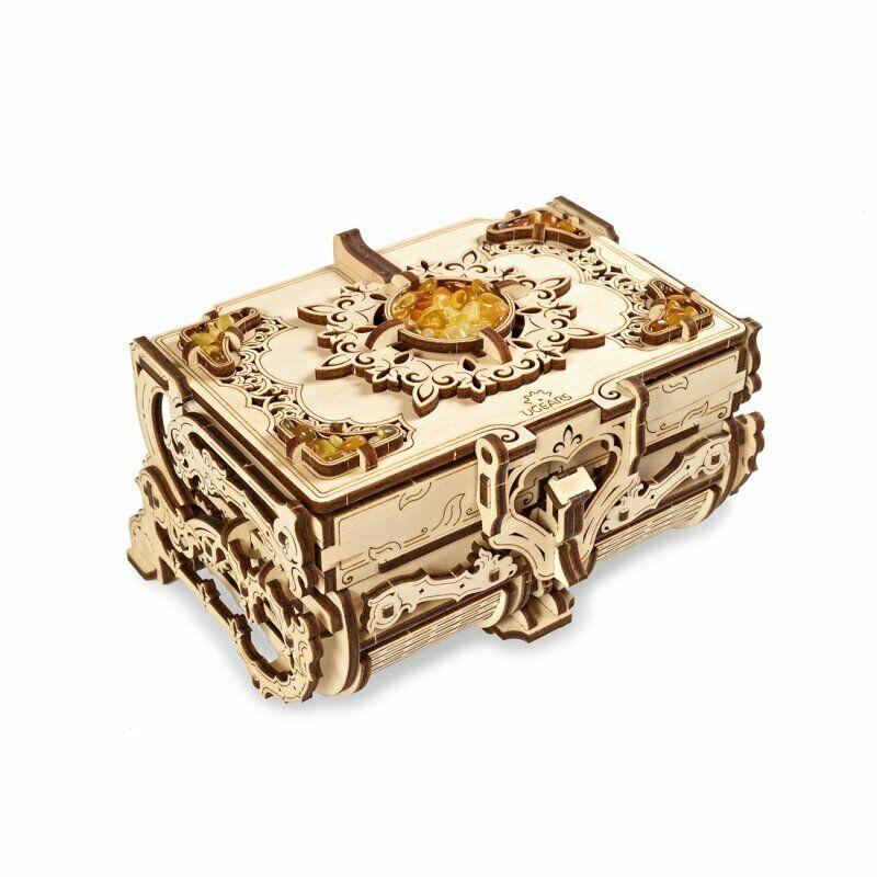 UGEARS Die BernsteinSchatulle mechanisches Modell Bausatz Aufbewahrung aus Holz