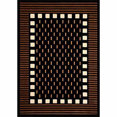 Abacasa Terra Mali Chocolate-Beige-Black-Ivory 8x10 Area Rug