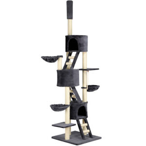 Huge Cat Tree Scratching Post Condo with Adjustable Height