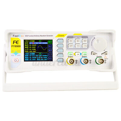 Fy6900-60m Dds Signal Generator 2-channel 0.01-60mhz Arbitrary Waveform Pulse G