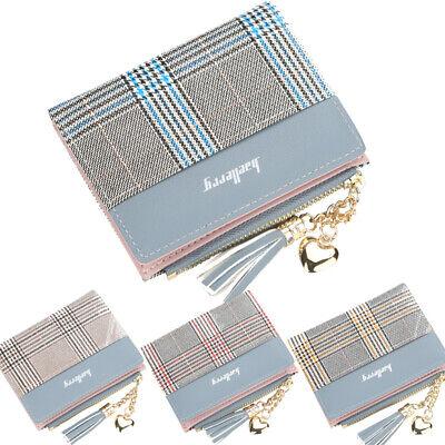 US Womens Leather Small Mini Wallet Ladies Card Holder Clutch Handbag Coin Purse ()