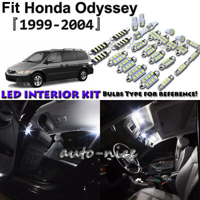 12x White LED Interior Lights Package Kit For 1999-2002 2003 2004 Honda Odyssey