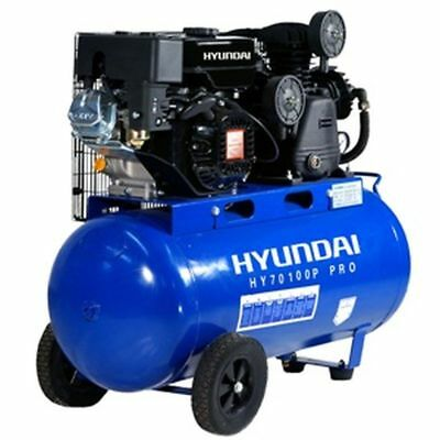 Hyundai 15cfm Petrol Driven Air Compressor with 7hp Petrol Engine. HY70100P