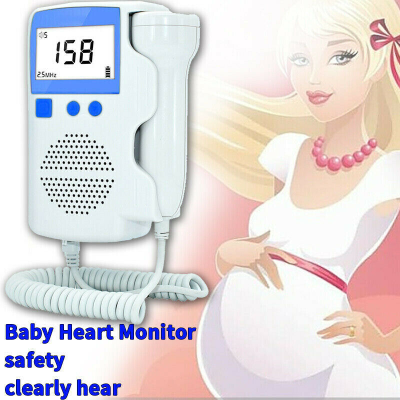 Fetal Heart Rate Detector 3.0 MHZ Pregnant Doppler Baby Heart Monitor Home